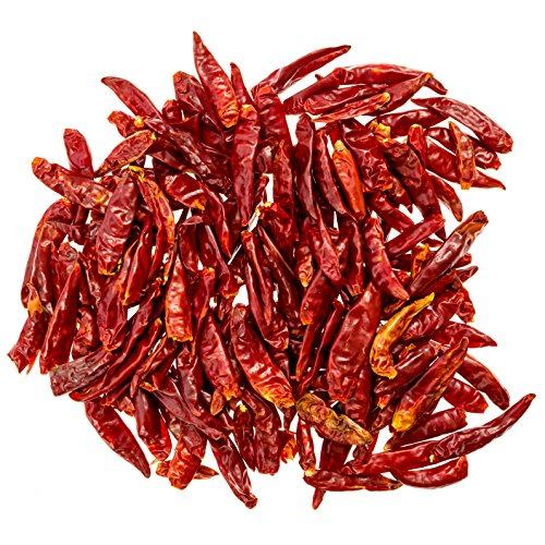THREE SQUIRRELS Szechuan Whole Dried Chilies, Chinese Dried Red Chili Peppers, Making Hot Chili...