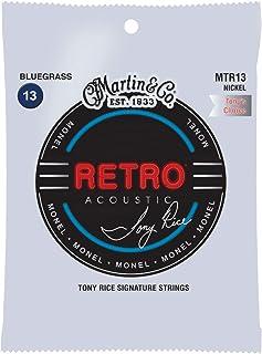 Martin Retro Acoustic MTR13 Bluegrass-Gauge Guitar Strings, Tony Rice's Choice, Monel Nickel