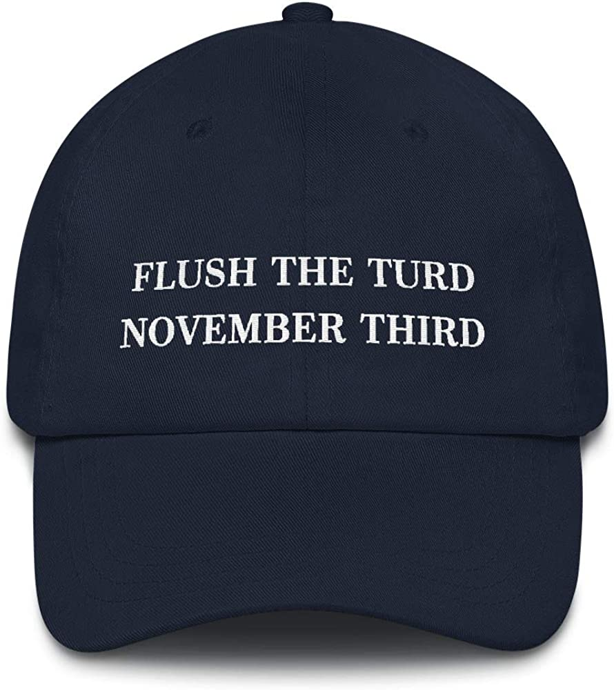 Flush The Turd quality assurance November Third Popular products Hat Cap Don Anti Dad Embroidered