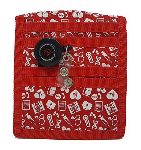 Organizador de bolsillo para enfermería rojo
