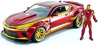 Jada Toys Marvel Iron Man & 2016 Chevy Camaro Die-cast Car, 1:24 Scale Vehicle & 2.75