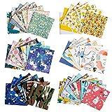 50 piezas tela algodon telas patchwork, zwoos telas infantiles telas para manualidades diy tela de algodón de dibujos tejido diy costura paquete de tela para patchwork material, 25 cm x 25 cm