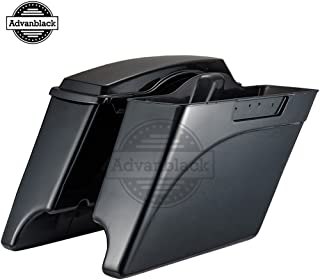 Advanblack 4 1/2 inch Midnight Pearl Extended Stretched Hard Saddlebags Fit for Harley Touring Road Glide Street Glide Road King Electra Glide 1994-2013