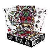 Aquarius Sugar Skulls Playing Cards,Multi-colored,3'