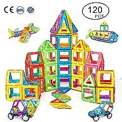 Condis Magnetische Bausteine 120 Teile Magnetspielzeug Magnete Kinder Magnetbausteine Magnet Spielzeug Kinder Magnetspiele für Kinder Kinderspielzeug Puzzle Geschenk ab 2 3 4 5 6 7 Jahre Junge Mädchen