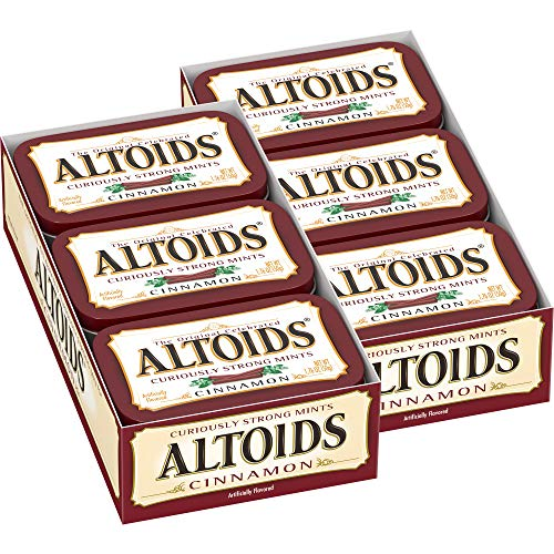 Altoids Classic Cinnamon Breath Mints 176Ounce Tin 12 Packs