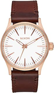 Sentry 38 Leather A381 - Rose Gold/White/Brown - 104M Water Resistant Men's Analog Classic Watch (38mm Watch Face, 21mm Leather Band)
