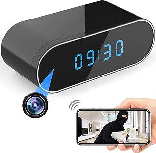 Hidden Camera HD 1080P WiFi Clock,Night Vision Spy Camera Wireless Mini Cam 140° Wide-Angle Video Recorder Motion Detectio...