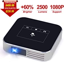 Projector Portable DLP 2500 Lumens 1080P Supported Video Projector 200