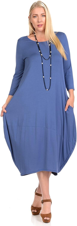 Pastel by Vivienne Women's Cocoon Midi Dress Plus Size