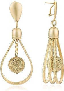 Zbeauty 18k Gold Plated Alloy Rhinestone Drop Dangle Earrings for Women, Elegant Dangling Party Earrings for Women Girls L...