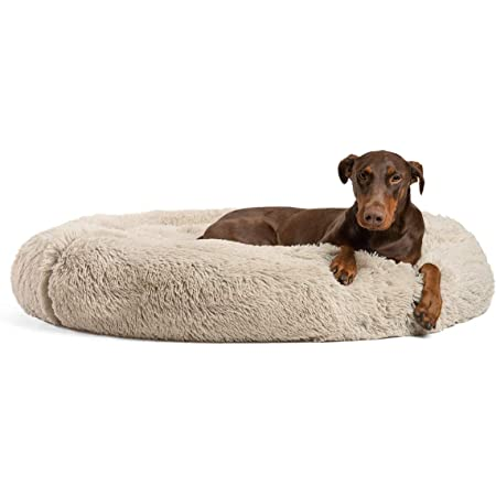 Best Friends by Sheri The Original Calming Donut Cat and Dog Bed in Shag Fur, Machine Washable