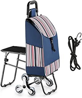 FKDECHE Blue Shopping Trolley Replacement Bag Shopping Cart Bag Spare Bag for Trolley-36L