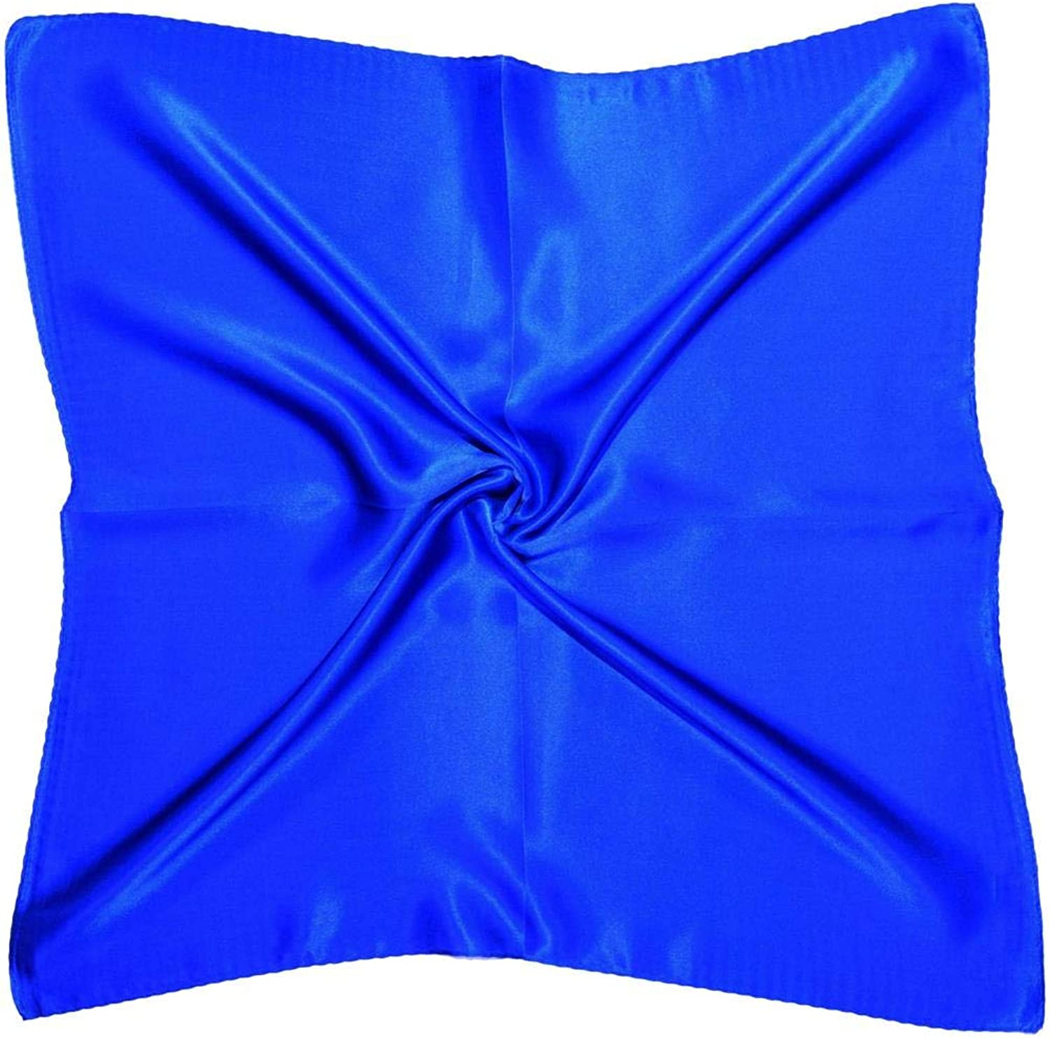 Royal bluee Thick Silk Small Square Scarf