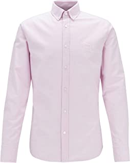BOSS Hommes Mabsoot 1 Chemise Slim Fit en Coton Oxford à Patch Logo Jacquard