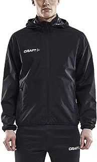 Craft Men's Waterproof Rain Jacket – Light Windbreaker with Hood Raincoat for Men