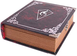 Grimoire Deck Box, Fury - Wooden Spellbook Style Large Capacity Trading Card Deck Storage (800 to 1000 Cards) for MTG Magi...
