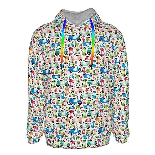 Colorido vehículo eléctrico suéter sudadera con capucha para niños y hombres, divertido...