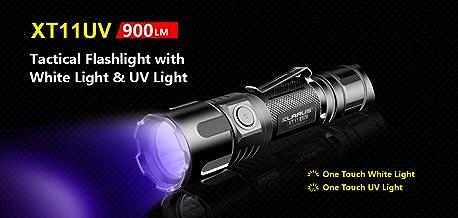 Klarus KL-XT11UV XT11UV LED Torch & UV Light with Battery, Black