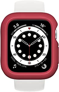 RhinoShield Bumper Case Compatible with Apple Watch SE & Series 6/5 / 4 - [44mm]   Slim Protective Cover, Lightweight and Shock Absorbent - Berry Red