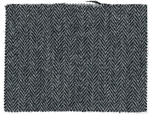 Harris Tweed - Paño de tela (100% pura lana virgen), gris acero, 100 x 75cm