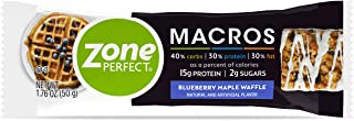 Zone Perfect Macros Protein Bars, Blueberry Maple Waffle, 20 Count