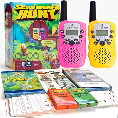 Scavenger Hunt Game for Kids - Walkie Talkies Outdoor Activities for Kids Camping Games for Families Outdoor Spy Kit for Kids Treasure Hunt Fun Outdoor Activities for Kids Board Games Girls Boys Teens