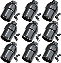 E26 Light Socket,Standard Screw-In Lamp Socket Holder For Edison Retro Pendant Lamp Bulbs-9 Pack Basic Black