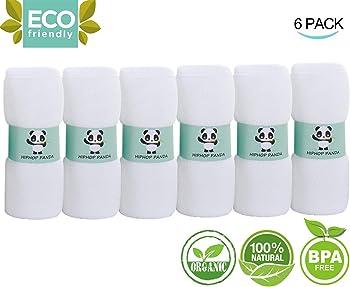 6-Pk. HIPHOP PANDA Absorbent Organic Baby Wipes