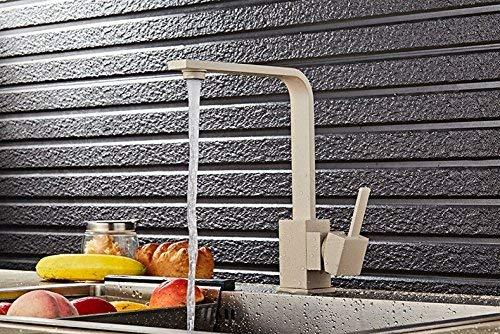 Cxmm Wasserhahn heiß kalt küche Quarz Stein gemüse Becken Wasserhahn rotierenden waschbecken Haferflocken Mixer