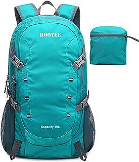 HOOYEE 40L Lightweight Foldable Water-Resistant Ripstop Hiking Backpack Daypack
