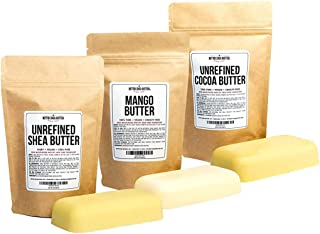 Shea, Cocoa, Mango Butters Set by Better Shea Butter - each butter is 8 oz
