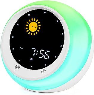 Sun & Moon Rise Kids Alarm Clock, Children's Sleep...