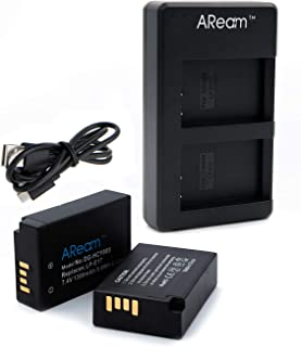 Aream 2-Pack of LP-E17 Batteries and USB Dual Battery Charger for Canon Rebel SL2, T6i, T6s, T7i, EOS M3, M5, M6, EOS 200D, 77D, 750D, 760D, 800D, 8000D, KISS X8i, RP,Digital SLR Camera