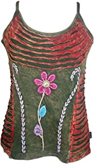 R 139-140 Agan Traders Women's Bohemian Gypsy Spaghetti Strap Tank Top Camis
