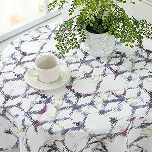 YI KUI nappes Pad Nappe Ronde - Huile verbrühungshemmender étanche résistant à Petite Table Ronde - Mixte - Tissu de qualité Facile à Nettoyer 110 * 110cm