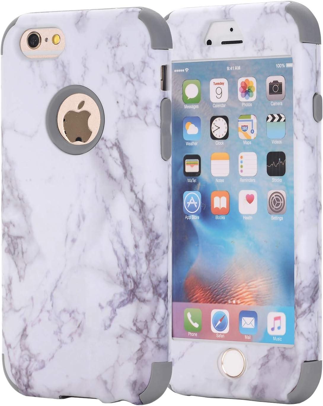 iPhone 6S Case, iPhone 6 Case, AOKER [Marble Design] Slim Dual ...
