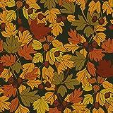 Hans-Textil-Shop Stoff Meterware Herbstlaub Baumwolle - 1