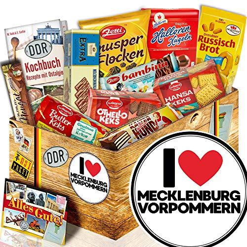 Keks Schachtel Geschenk / DDR Box / I Love Mecklenburg / Zum DDR Süßigkeiten