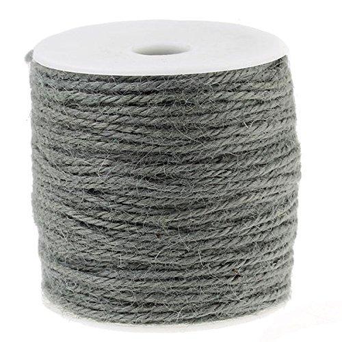 Jute Twine Jute 100 M / 1 MM Grey by SiAura Material