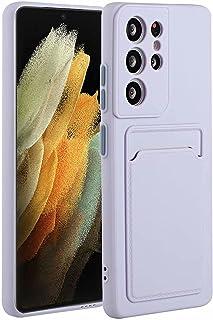 Molg Hoesje voor Samsung Galaxy S21 Ultra 5G [Screen Protector] Ultradunne Zachte TPU Siliconen Shock Proof Bumperafdekkin...
