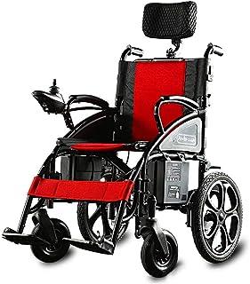 Sillas de ruedas eléctricas para adultos Silla de ruedas silla de ruedas eléctrica for trabajo pesado, plegable y ligero silla de ruedas eléctrica, 360¡Ã Joystick W / puerto de carga USB, Capacidad de