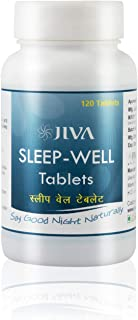 Jiva Ayurveda's Sleep-Well tablets for boosting the body's natural ability to rest and fall asleep- 120 tablets.