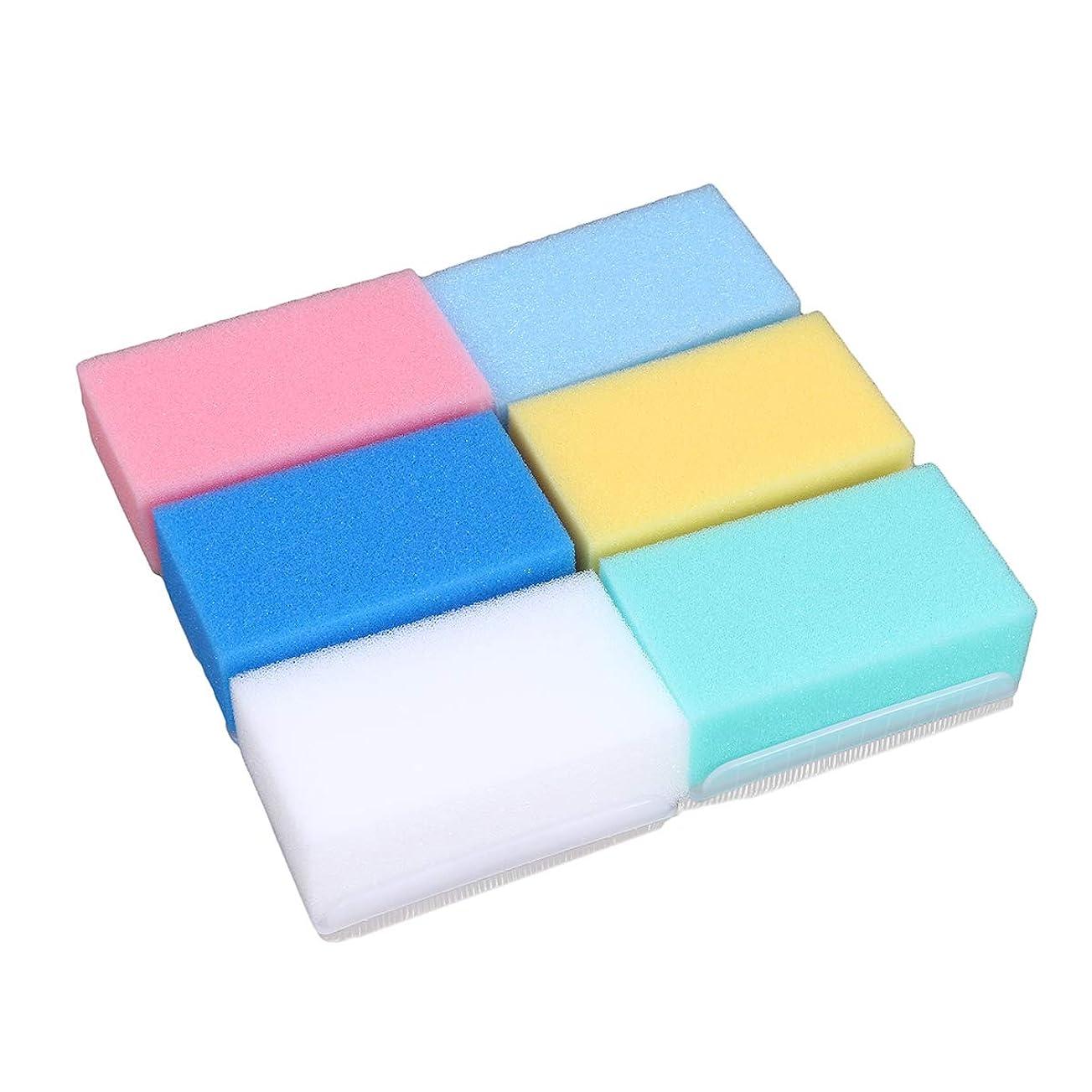 によって日曜日チューブHEALIFTY 6本入浴ボディウォッシュブラシ柔らかい触覚感覚統合トレーニング乳児新生児のためのバスブラシバススポンジ(6色)