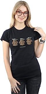 Star Wars Women's The Mandalorian The Child Poses T-Shirt