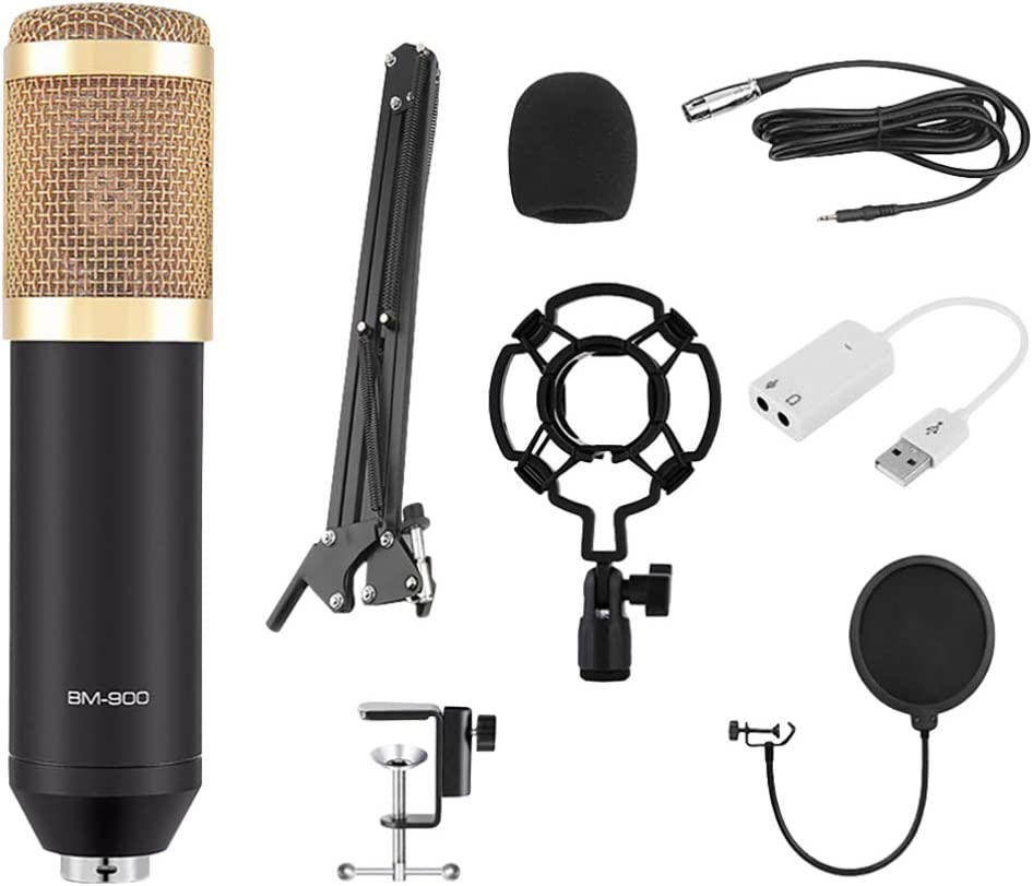 Exceart Condenser Free Shipping New Microphone Set Stud Finally popular brand Cardioid BM-900