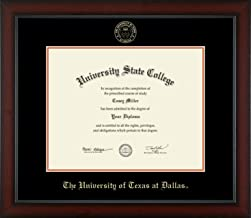 The University of Texas at Dallas - Officially Licensed - Gold Embossed Diploma Frame - Diploma Size 14
