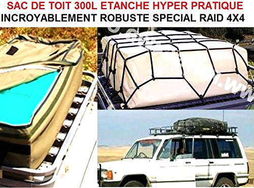 LCM2014 Genial Roof Bag 300L Waterproof super strong. Put All The Bazaar Well RANGƒ on The Roof! Raid Preparation 4X4 Donaldson Topspin Snorkel