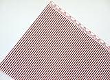 Melody Jane Puppenhaus Rot auf Weiß Windsor Streifen Miniatur Druck 1:12 Tapete