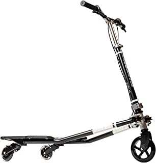 MSKI Semi Best Patented 3 Wheel Tilting Scooters,Swing Wiggle, Handlebar Detachable, Self Propelling Speeder, Outdoor Sports, 3 Step Height Adjustable, Drifting Scooter, Over 6 Years Old (Black)